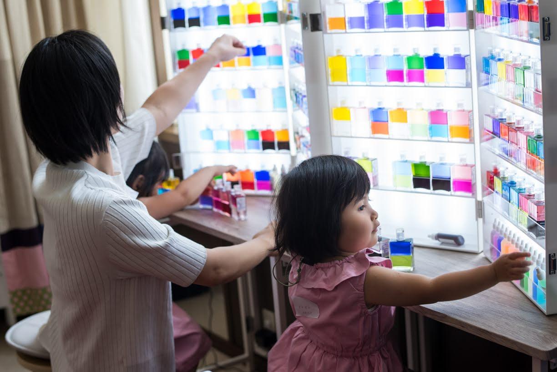 親子でのカラーセラピー